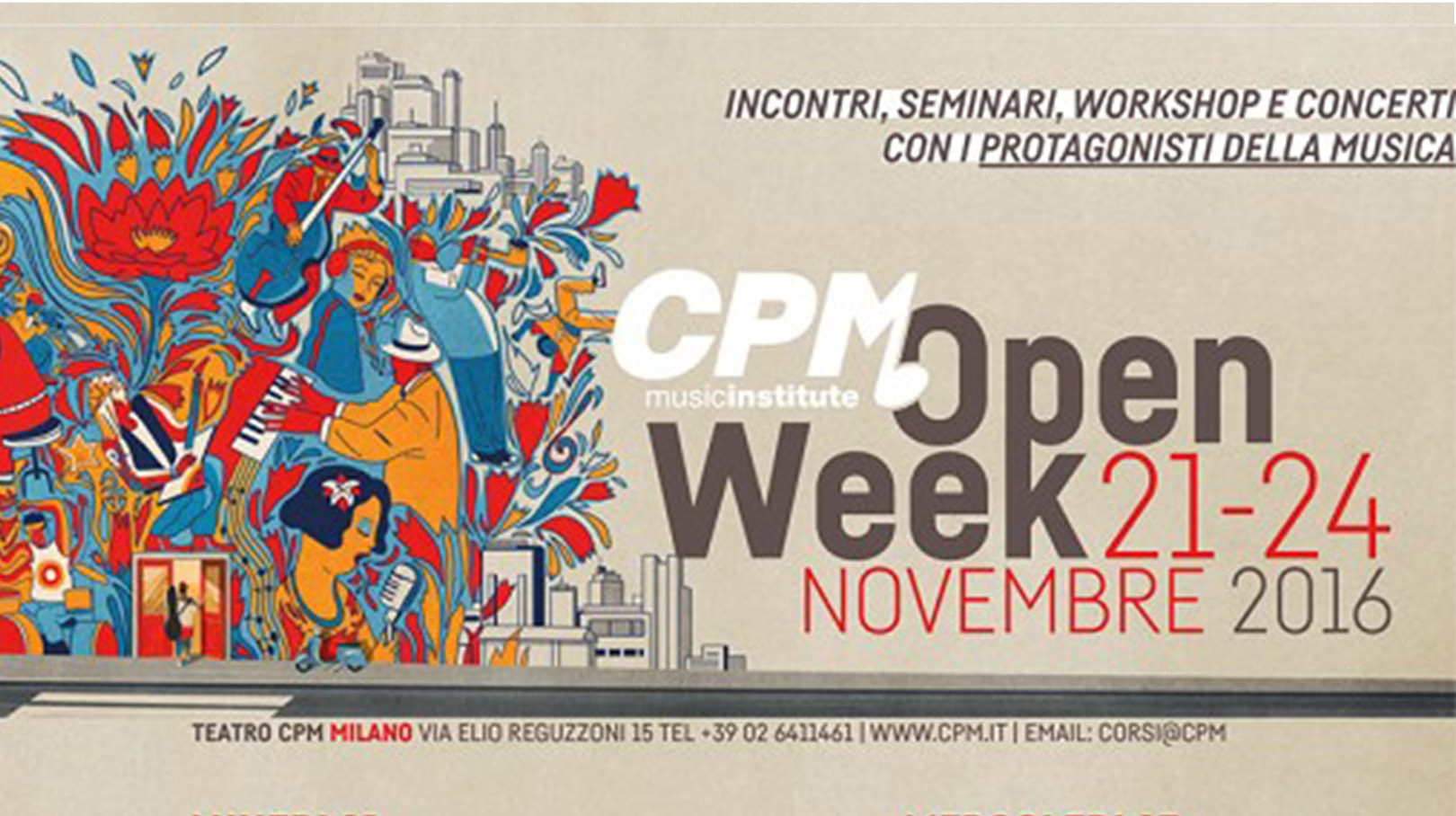Calendario Esami Bicocca.Cpm Music Institute Open Week Il Calendario Con Tutti Gli
